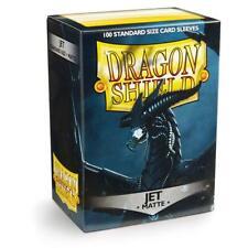 More details for 100 x jet matte standard sleeves [ dragon shield ] for magic mtg & pokemon