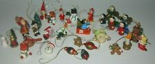 Vintage Miniature Wooden Christmas Ornaments Figurines Very nice lot 32 pcs