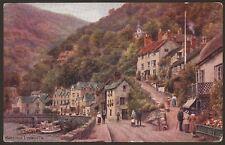 """Devon. Lynmouth """"Mars Hill, Lynmouth"""" by A.R Quinton. J. Salmon Postcard #2090"""