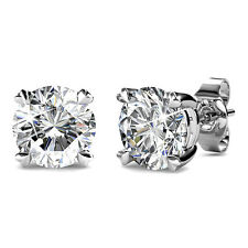 Genuine Swarovski Elements Solitaire Earrings 18KGP Krystal Couture KCE800WG