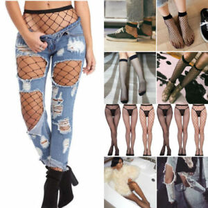 Net Fishnet Long Socks Stockings Women Pantyhose Tight Thigh-High Bodystockings
