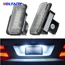 2PCS White License Plate LED Light Error Free For Mercedes Benz W203 W211/W219