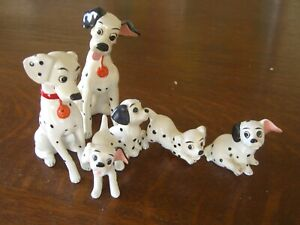 101 Dalmatians Lot of (6) solid Figures (Toys) Perdita Rolly Patch Pongo