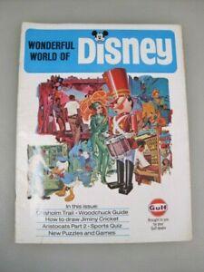 Wonderful World of Disney Magazine 1970,  vintage disneyana GULF Handout B4033
