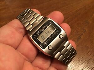 Very Rare Vtg 1980's Casio 55QS24 Digital Chronograph Men's Watch New Battery