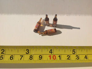 Dollhouse Miniature Beer Bottle Kitchen/Market/Party/Drinks/Meal 2.5cm 4pcs 1:24