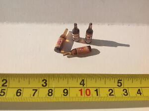 Dollhouse Miniature Beer Bottle Kitchen/Market/Party/Drinks/Meal 2.5cm 4pcs 1:24