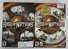 Rise Of Nations (PC, 2003) Rise Of Nations Thrones &  Patriots (PC,2004) Pack