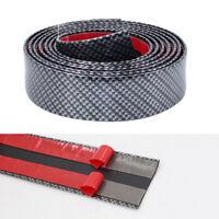 2M 70MM Carbon Fiber Car Auto Mouldings Trim Protector Universal Bumper Strip