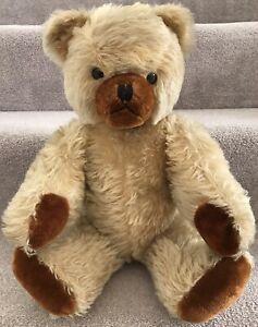 "Large Antique Vintage Schuco Hamiro Mohair Growler Jointed 50s Teddy Bear 19.5"""