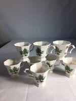 Set of 8 Nikko Japan Christmastime China  Cups