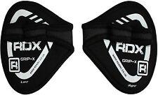 RDX Pelle Neoprene Peso Sollevamento Grip Training Gym Cinghie Guanti Mano spessa