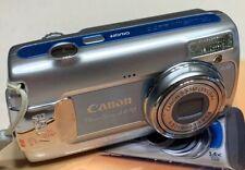 Canon PowerShot A470 7.1MP Digital Camera - Blue w/ 1 GB SD Card & Case