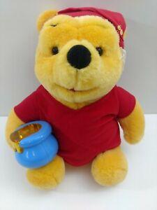 "Disney Mattel 1998 Plush Winnie the Pooh 11"" Light Up Honey Pot Night Cap"