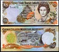 CAYMAN ISLANDS 25 DOLLARS 2006 P 36 C/2 PREFIX UNC