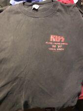 Vintage Kiss Alive Worldwide Tour 1996 1997 Local Crew T-Shirt Worn XL
