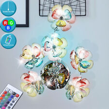 Flower RGB LED Wall Lighting Remote Control Pull Switch Corridor Lamp Dimmable