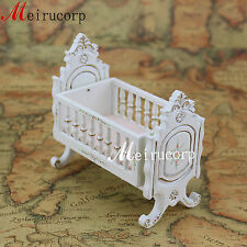 1:12 scale Well Made Miniature furniture white baby's cradle bed for Dollhouse