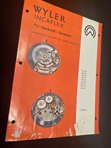 "Vintage Wyler Incaflex watch watchmaker's Repair Guide 11 1/2"" Dynawind Handwind"