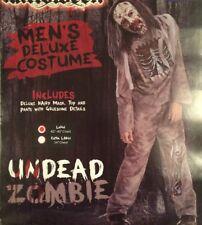 Men's Undead Walking Zombie Horror Fancy Dress Halloween Costume NO MASK