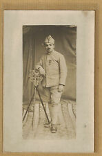 Cpa France Carte Photo Militaire Infanterie croix de guerre m0269