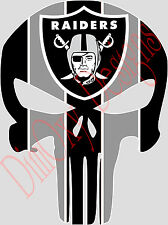 "Oakland Raiders Punishe Sticker Decal Full Color 3"" (Phone, Tablet, etc.) ORP1-3"