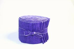 20 pc. 2.5 inch Crosshatch Purple Jelly Roll 100% cotton fabric quilting strips