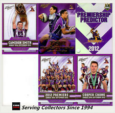 2012 NRL Dynasty Predictor + TT7 Slater/Chambers + Premiership LE 3-Card Set