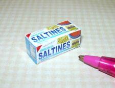 "Miniature Cindi's ""Saltines"" Cracker Box: DOLLHOUSE 1:12 Scale"