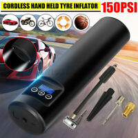 Portable 150PSI LCD Tyre Inflator Cordless Air Compressor Electric Pump Car Bike