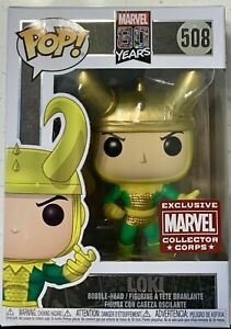 Loki 80th 508 Marvel Collector Corp Funko Pop Vinyl New in Mint Box + Protector