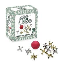 TRADITIONAL JACKS GAMES - TY4413 FUN METAL PLASTIC BALL KNUCKLEBONES SILVER GOLD