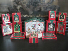 Huge LOT of 14 Holiday Ornaments all Hallmark from the 1980's EUC