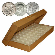 50 Direct-Fit Airtight H38 Coin Capsules Holders For MORGAN PEACE / IKE DOLLARS