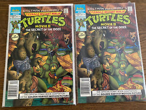 Teenage Mutant Ninja Turtles Movie 2 The Secert Of The Ooze lot of 2