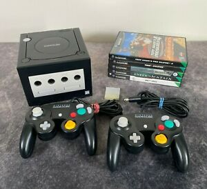 Black Nintendo GameCube PAL Console Controllers Games Memory Card Bundle Tested