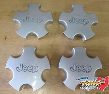 2001-04 Jeep Grand Cherokee Silver Wheel Center Hub Cap Cover Set of 4 Mopar OEM