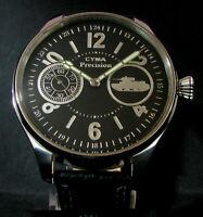 CYMA PRECISION Vintage WWII Era Large Steel Wristwatch