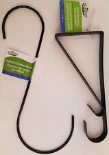 Plant Hangers S-Hooks Brackets Garden Decorations, Select: S-Hook or Bracket