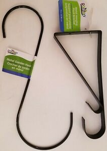 Plant Hangers S-Hooks Brackets Garden Decorations, Select: S-Hook or Bracket