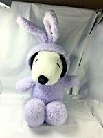"Hallmark Peanuts Snoopy Plush 14"" Purple Easter Bunny Costume  EUC Rabbit FS"