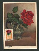 UNGARN MK 1962 FLORA ROSEN ROSE BLUMEN MAXIMUMKARTE MAXIMUM CARD MC CM d1975
