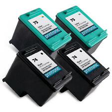 4 pk compatible for HP 74 75 Ink Cartridges HP75 HP74 CB335WN CB337WN
