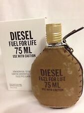 DIESEL FUEL FOR LIFE FOR MEN 2.5 oz 75 ml EDT SPRAY NEW IN TST BOX