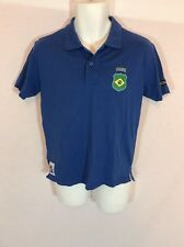 Men's FIFA 2010 World Cup South Africa Brasil Blue Polo T-shirt Size Small