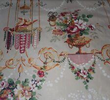 Vintage Louis Dove Urn Floral Polished Cotton Fabric #2~Rose Ochre Wine~Diament