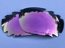 ENGRAVED POLARIZED ROSE PINK MIRROR VENTED OAKLEY JAWBONE & RACING JACKET LENSES