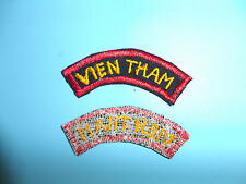 b4269 RVN Tab Vietnam Long Range Reconnaissance Patrol LRRP Vien Tham red