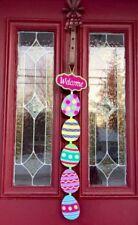 Easter Door Wreath Bunny Wall Hanging Decor Swag FLORAL Pick Rabbit Egg Basket