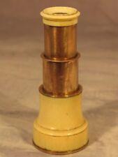 Georgian Vintage Antique Monocular Telescope Spyglass J. Abraham Bath England
